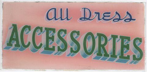 Shop sign 'All Dress Accessories'