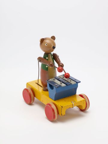 GH011667; Toy, 'Bear with Xylophone'; Circa 1940s; H. E. Ramsey Limited ; view 1 (image/tiff)