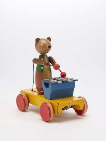 GH011667; Toy, 'Bear with Xylophone'; Circa 1940s; H. E. Ramsey Limited ; view 2 (image/tiff)