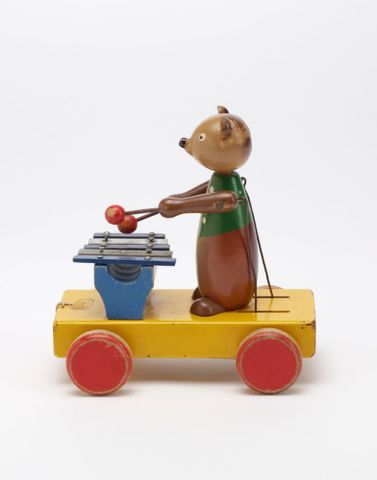 GH011667; Toy, 'Bear with Xylophone'; Circa 1940s; H. E. Ramsey Limited ; view 3 (image/tiff)