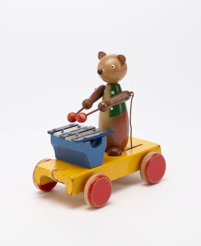 GH011667; Toy, 'Bear with Xylophone'; Circa 1940s; H. E. Ramsey Limited ; view 4 (image/tiff)