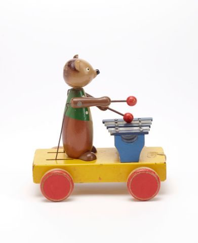 GH011667; Toy, 'Bear with Xylophone'; Circa 1940s; H. E. Ramsey Limited ; view 5 (image/tiff)
