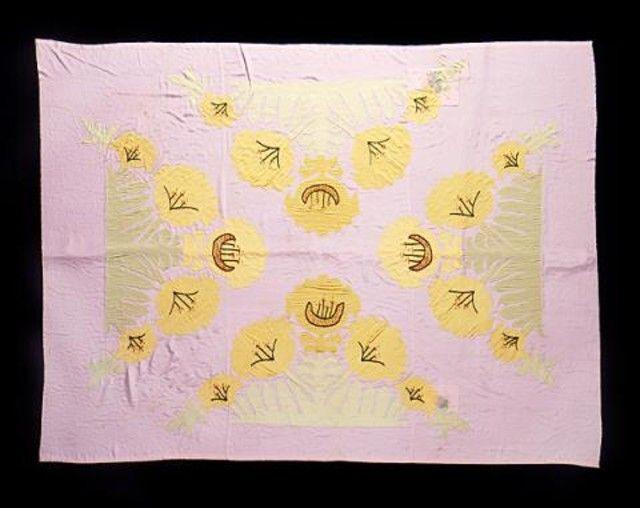 Handmade amish applique quilt