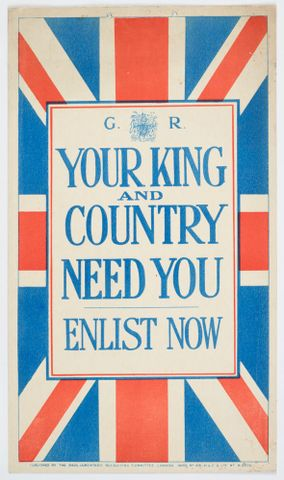 GH016378; Poster, 'Your King and Country'; 1915; Parliamentary Recruiting Committee (image/tiff)