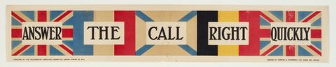 GH016380; Poster, 'Answer The Call Right Quickly'; 1915; Parliamentary Recruiting Committee (image/tiff)