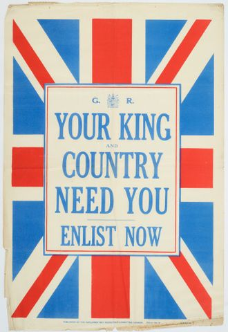 Poster, 'Your King and Country'