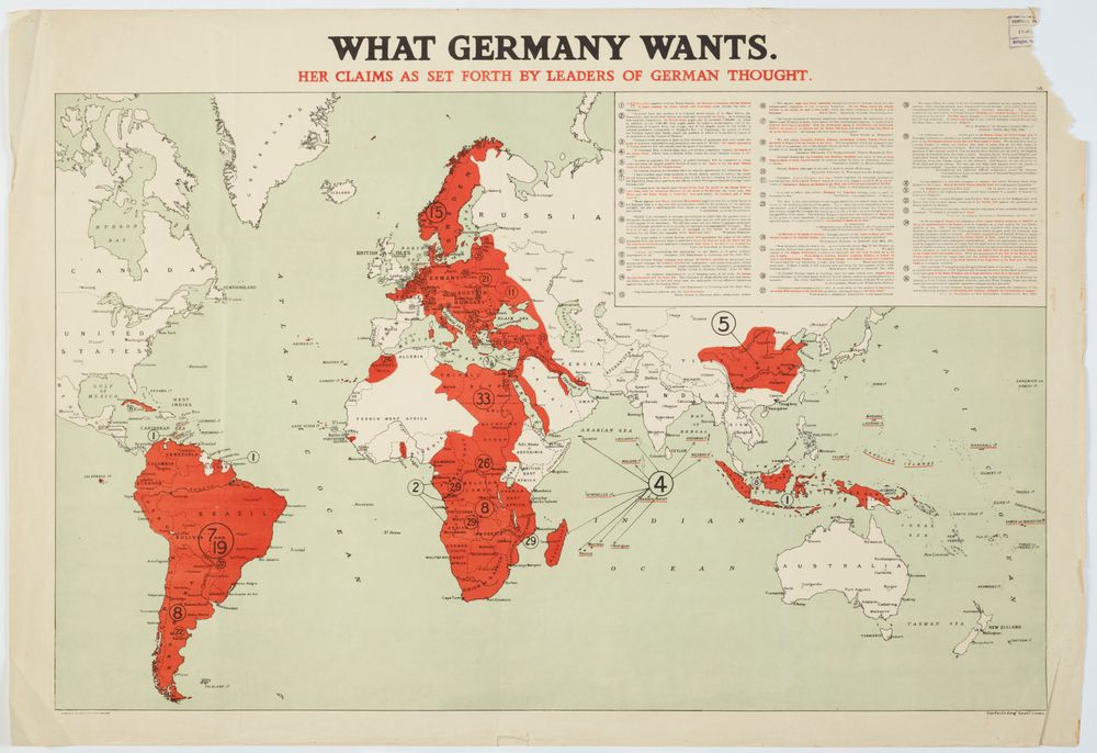 Geographical Map Of Germany.Map What Germany Wants Collections Online Museum Of New