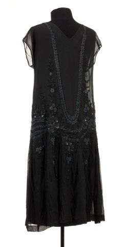 GH005702; Evening dress; mid to late 1920s; Unknown ; view 4 (image/tiff)