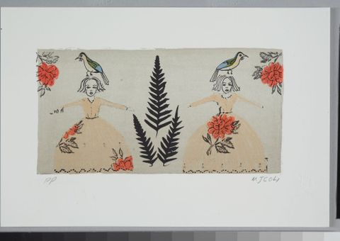 Megan Campbell, Fern, 2004, lithograph. Purchased 2010. Te Papa (CA000931/001/0168)