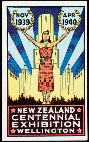 Centennial Exhibition souvenir sticker