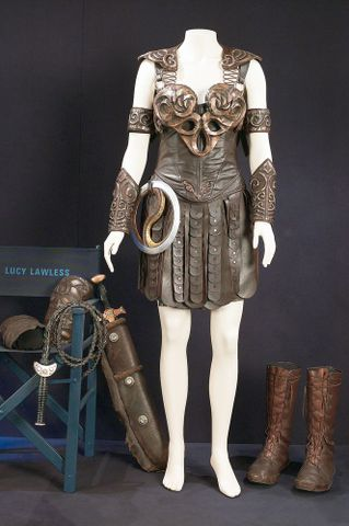 Xena costume in display case (image/tiff)