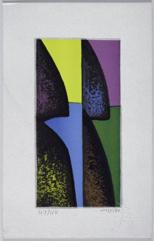Michael Smither, Untitled, 1990, lithograph. Purchased 2010. Te Papa (CA000931/003/0337)