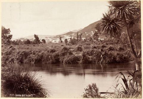 Thames River - Te Aroha, circa 1880, Dunedin, by Burton Brothers studio. Te Papa (O.034275)