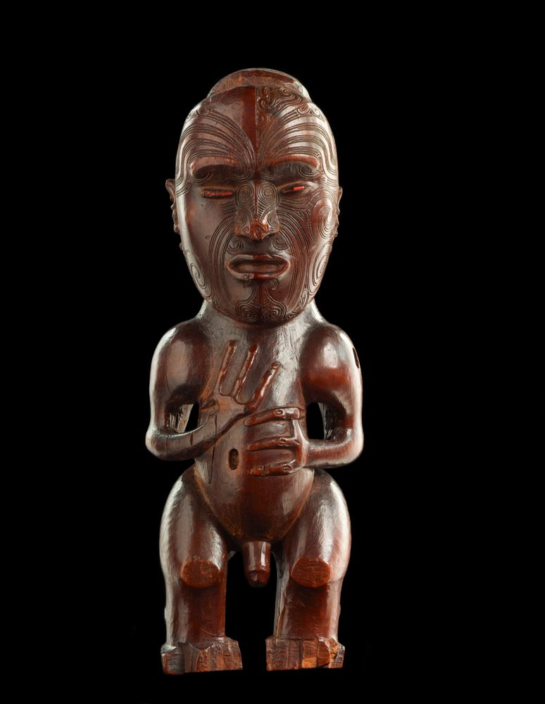 OL000148; Pou tokomanawa (carved centre post); ca 1840; Te Tai Rawhiti; wood ; view 1