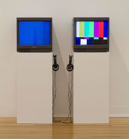 2009-0017-1; Zen DV: Bluescreen and Bars and tone; 2002; Brennan, Stella[Collecting Comtemporary Exhibition June 2011 to June 2012] (image/tiff)