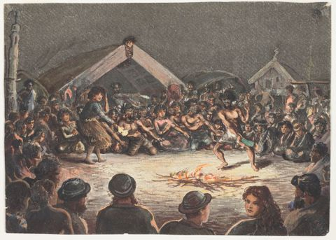 1992-0035-841; A night haka; 1865; Robley, Horatio Gordon (image/tiff)