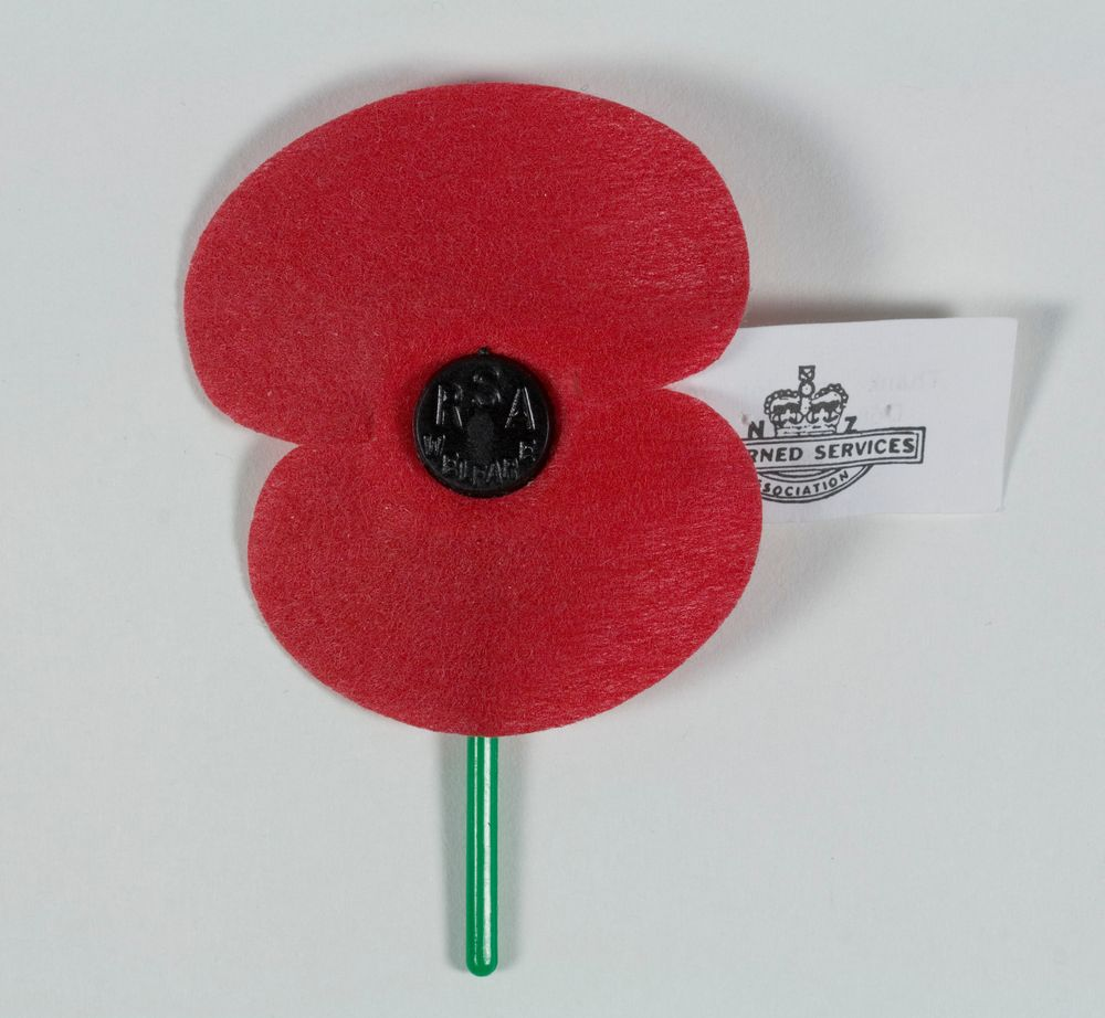 Anzac Poppy Collections Online Museum Of New Zealand Te Papa