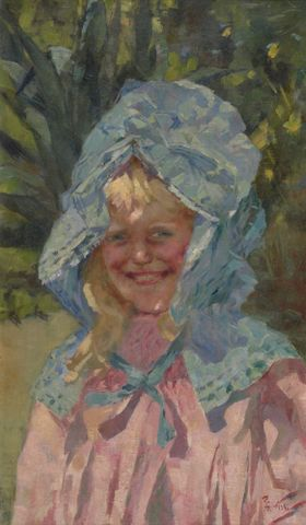 Girl in sunbonnet