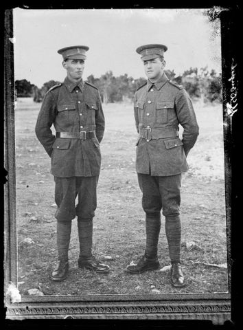 Copy of a portrait of two unidentified soldiers inscribed Johnson, 1914-1920, Wellington. Berry & Co. Purchased 1998 with New Zealand Lottery Grants Board funds. Te Papa