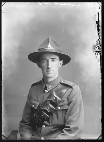 Portrait of Gunner Alexander Cumming Murray, New Zealand Field Artillery.