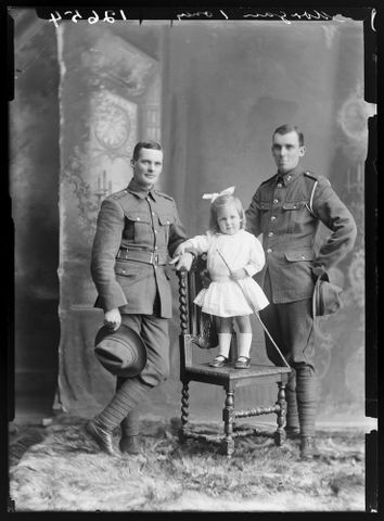 Portrait of Francis Harold Morgan, Edmund Guthrie Morgan and their niece Joyce Vida Morgan