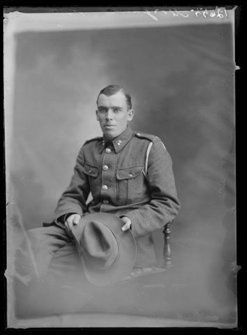 Portrait of Sapper Francis Harold Morgan, Royal New Zealand Engineers.