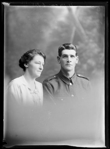 Portrait of William John Main and a young  woman.