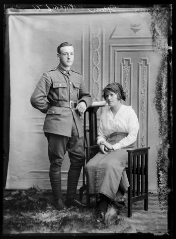 Portrait of Harold Pilkington and an unidentified woman