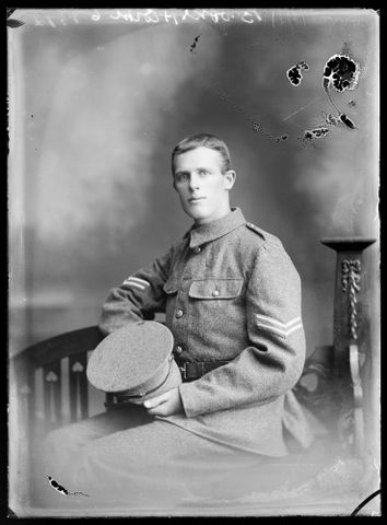 Portrait of an unidentified soldier [inscribed Brooks]