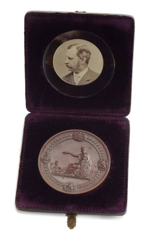 NU006500;  United States Centennial Exhibition Medal, 1876.; 1876; Mitchell, H. ; view 2 (image/tiff)