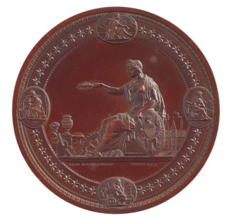 NU006500;  United States Centennial Exhibition Medal, 1876.; 1876; Mitchell, H. ; view 4 (image/tiff)