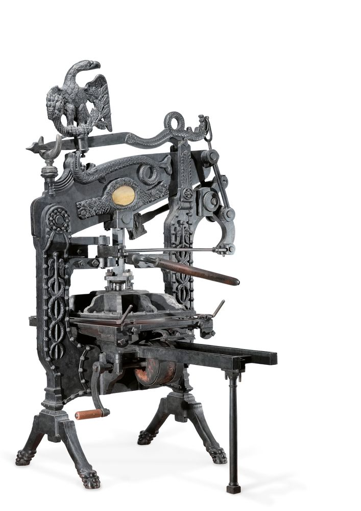 columbian printing press collections online museum of new
