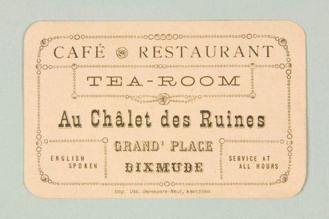 Belgium collections online museum of new zealand te papa tongarewa business card reheart Gallery