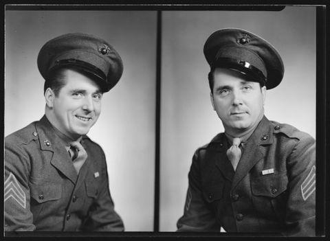 Sergeant Dietrich, 1943, Spencer Digby Studios. Half-plate negative. Te Papa, B.057660