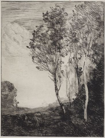 1957-0003-14; Souvenir d'Italie; 1866; Corot, Jean-Baptiste-Camille ; without frame (image/tiff)