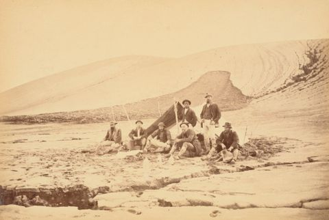 Percy Smith's camp at the foot of Mount Tarawera