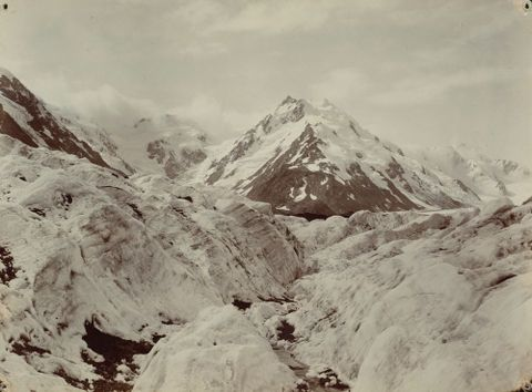 O.000729; Mount De La Beche from the Tasman Glacier; 1893; Moodie, George; Mar 2011; Hall, Michael (image/tiff)