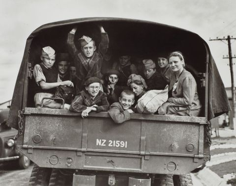 Polish refugees en route to Pahiatua, 1945.  From the portfolio: PhotoForum - John Pascoe