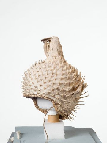 FE010482; Puffer fish helmet; 1900s; Kiribati; Unknown ; view 3 (image/tiff)