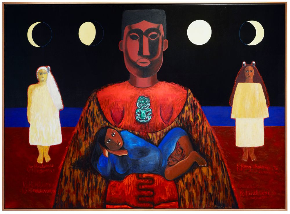1995-0016-1; Ko hine te iwaiwa, ko hine korako, ko rona whakamau tai; 1993; Kahukiwa, Robyn