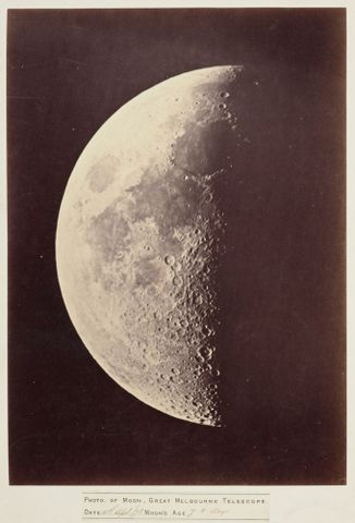 O.009499; The Moon, Great Melbourne Telescope; 1873; Melbourne Observatory (image/tiff)
