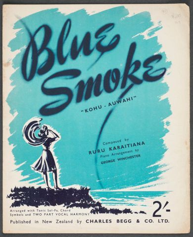 "Sheet Music ""Blue Smoke/Kohu-Auwahi"""