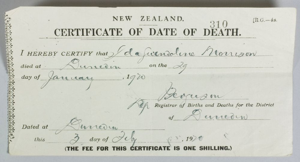 Certificate Of Date Of Death Collections Online Museum Of New