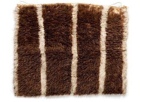 Striped Kahukiwi (cloak) ME001378 (image/tiff)