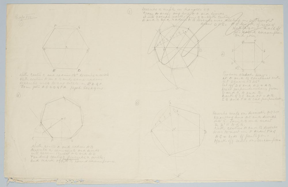 Geometry sketch   Collections Online - Museum of New Zealand