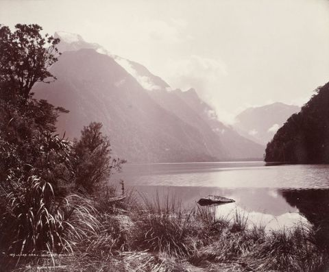 O.000745; Lake Ada - Milford Sound; 1887; Burton Brothers ; without frame (image/tiff)