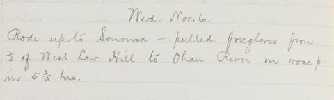 George Leslie Adkin diary entry Wednesday 6th November, 1918