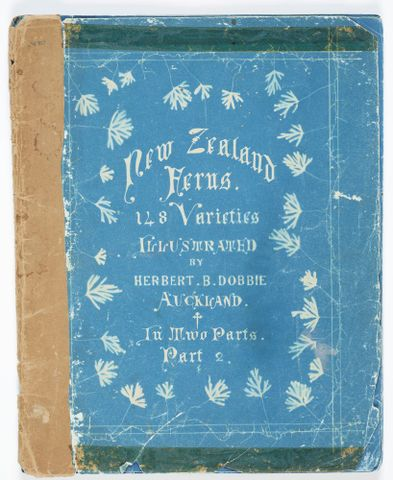 AL.000561; New Zealand ferns. 148 varieties…in two parts: part 2; 1880; Dobbie, Herbert ; Cover Front (image/tiff)