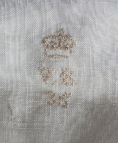 Monogram on Queen Victoria's underwear, 1890s, Gift of Jean K. Gilmer, 2009. Te Papa