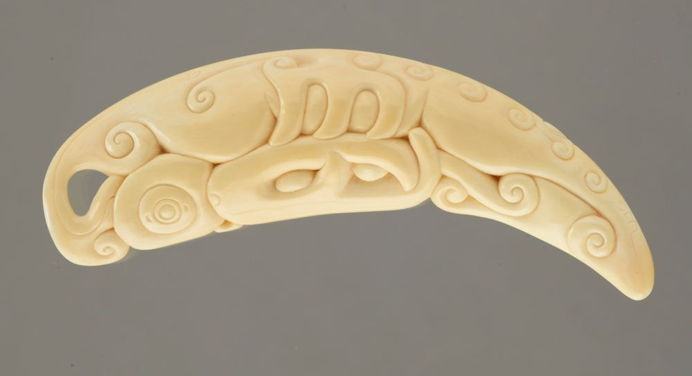 Ivory carving of sperm whale